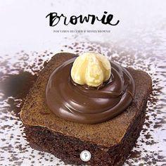 Receita dessa maravilha de brownie by Misses Brownie.