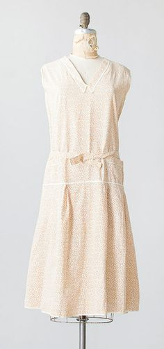 Country Peach Dress | vintage 1930s dress