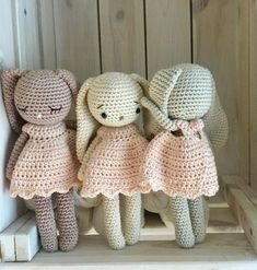 Amigurumi crochet longear bunny girl,a baby bunny blossom amigurumi, bunny with personalized dress, perfect newborn baby gift or baby shower - Stofftiere Crochet Bunny Pattern, Crochet Rabbit, Crochet Toys Patterns, Hand Crochet, Free Crochet, Bunny Girls, Baby Bunnies, Crochet Amigurumi, Crochet Dolls