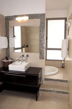 Sunken Bathtub Design, Pictures, Remodel, Decor and Ideas - page 13 Dream Bathrooms, Beautiful Bathrooms, Small Bathrooms, Hidden Bath, Hidden Shower, Sunken Bathtub, Step In Bathtub, Casa Clean, Laundry In Bathroom