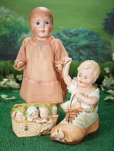 What Frolicks Are Here: 12 Rare German Bisque Character with Bobbed Hair by Grace Corry Rockwell