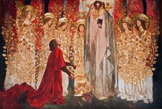 Edwin Austin Abbey, The Quest for the Holy Grail - Golden Tree and The Achievement of the Grail