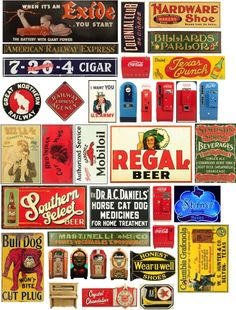 SIGNS for your layout - Page 15 Vintage Tins, Vintage Labels, Retro Vintage, Train Info, Scenic Wallpaper, Billboard Signs, Model Train Layouts, Old Signs, Advertising Signs