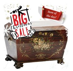 """Hurry, hurry up!  Our 12 Days of Christmas Sale Continues!  The Deal for Today, the """"Prague"""". The Original Life Chest with a lovely hand-painted basket and flower design. Shop Now! www.thelifechest.com #christmasgift #LifeChest #HolidayGiftGuide #xmasgift #HolidayGift #UniqueGift #Christmas"""