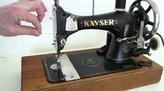 Schwingschiffchen Nähmaschine Kayser L Spulen Fädeln Einfädeln Nähen