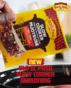 Have an easy taco night with Old El Paso's Beef Barbacoa slow cooker seasoning mix. Let the slow cooker do the work, and get the great flavour. All the taste, none of the effort. # Food and Drink videos slow cooker Make Tonight Taco Night Pureed Food Recipes, Baby Food Recipes, Food Network Recipes, Mexican Food Recipes, Recipes Dinner, Cupcake Recipes, Slow Cooker Recipes, Crockpot Recipes, Cooking Recipes