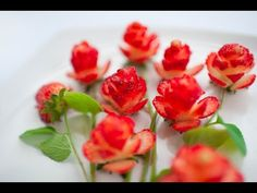 Learn How to Cutting Strawberries into Flowers & Roses. Instructional Video Created by Artist Italypaul http://www.italypaul.co.uk/