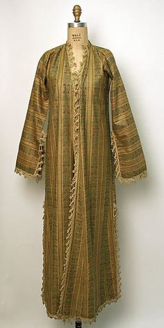 Robe Date: late 19th–early 20th century Culture: Turkish Medium: cotton Dimensions: Length at CB: 54 in. (137.2 cm) Length at CF: 52 in. (132.1 cm)