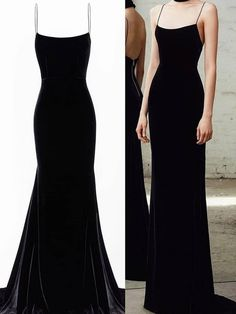Spaghetti Straps Black Mermaid Long Prom Dresses, Black Mermaid Long Formal Evening Dresses sold by magbridal. Grad Dresses, Event Dresses, Formal Evening Dresses, Evening Gowns, School Formal Dresses, Chiffon Dresses, Fall Dresses, Long Dresses, Mode Chic