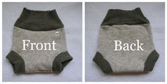 how to make a wool diaper cover from consignment store wool sweaters