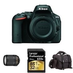 Nikon D5500 DX-format DSLR w/ 18-140mm Lens (Black) + Accessories