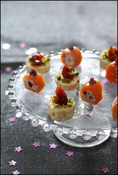 saumon fumé cramberry vodka  crevette tomate vanille