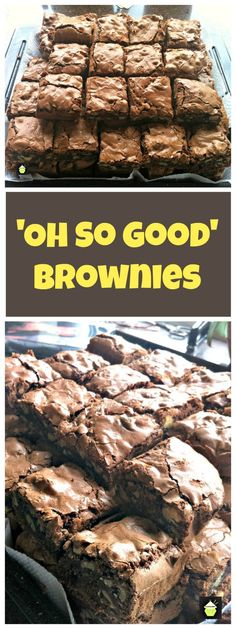 Pinner wrote: 'Oh So Good Brownies'.seriously, I have NEVER EVER tasted brownies like these before! They are awesome! Rich Chocolate Brownies Recipe, Best Brownies, Chocolate Recipes, Cake Like Brownies, Homemade Brownies, Baking Chocolate, Hershey Brownies, Boxed Brownies, Brownie Cake