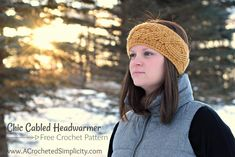Free Crochet Pattern - Chic Cabled Headwarmer