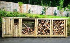 Wood storage, pallet и backyard sheds. Diy Pallet Projects, Backyard Projects, Outdoor Projects, Pallet Ideas, Recycled Pallets, Wood Pallets, Log Shed, Wood Store, Firewood Storage
