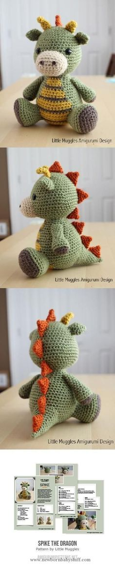 Child Knitting Patterns Crochet Child Dragon Sample Free Tutorial | The WHOot Baby Knitting Patterns