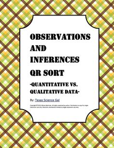 Teaching observations and inferences isn't just a literary strategy, it's a science one as well. This sort is designed to use technology to act as . Science Resources, Science Lessons, Science Education, Science And Technology, Teaching Resources, Science Ideas, Teaching Tools, Teaching Ideas, Secondary School Science
