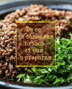 De ce să consumăm hrișcă Tasty, Yummy Food, How To Dry Basil, Vegan Vegetarian, Quinoa, Food And Drink, Health Fitness, Gluten Free, Herbs