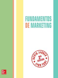 23 best marketing images on pinterest author libros and books to read fundamentos de marketing autores david jobber y john fahy editorial mcgraw hill edicin fandeluxe Gallery