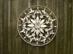 Cricket Acres Studio: Metal Flowers + White Spray Paint = Obsession