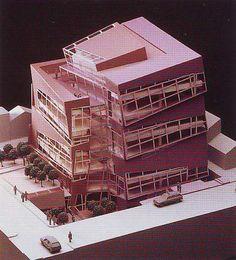 Nunotani building,Tokyo, by Peter Eisenman Modern Japanese Architecture, Facade Architecture, Architecture Models, John Hejduk, Peter Eisenman, Architect Design House, Michael Graves, Richard Meier, Arch Model