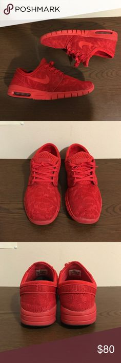 Nike SB Stefan Janoski Max Triple Reds Worn about 8 times, condition 8.5/10, prices are negotiable. Does not come with original box Nike Shoes Athletic Shoes