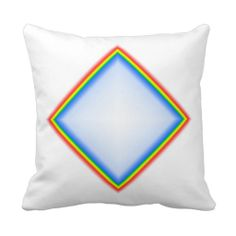 Diamond Rainbow Sofa Pillow Custom Design from Touch of the Wind by Janz