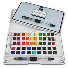 Post Image Japanese Watercolor, Watercolor Paint Set, Watercolor Brushes, Paint Brushes, Watercolor Paper, Texture Words, White Gouache, Pen Sets, Art Supplies