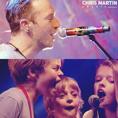 Glastonbury 2016... The band's kids sing together Up & Up. Magical! ❤