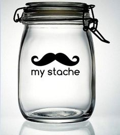 I found 'My Stache Mustache Moustache Glass Money Jar Piggy Bank Vinyl Decal - DIY Do It Yourself - Fathers Day Gift Birthday Party Wedding Favor' on Wish, check it out!