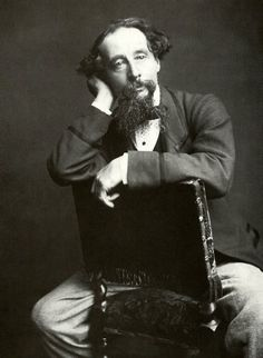 Charles Dickens: A contemporary pose for the Victorian novelist!