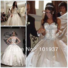 2014 New Design Zuhair Murad Vestido De Noiva Sweetheart Satin Luxury Crystal Ball Gown Wedding & Events Dresses Bridal Gowns $169.00