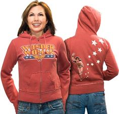 Zip-Up Wonder Woman Hoodie by Junk Food image