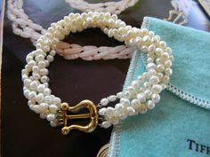 Tiffany 18K Gold Paloma Picasso Cultured Freshwater Pearl Bracelet