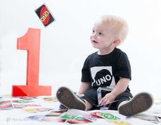 Uno Theme First Birthday Party Photo Shoot
