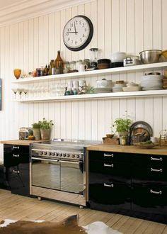 18 ideer til kjøkken Åpne hyller