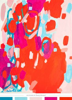 Color Study No. 7 by Emily Rickard // palette via Creature Comforts