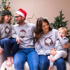 Personalised Family Portrait Christmas Jumpers by Sparks And Daughters, the perfect gift for Explore more unique gifts in our curated marketplace. Matching Christmas Jumpers, Family Christmas Jumpers, Christmas Hat, Perfect Christmas Gifts, Color Your Hair, Hair Colour, Family Pjs, Portrait Illustration, Facial Hair