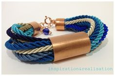 inspiration and realisation: DIY Fashion + Home: DIY rope style link bracelet