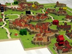 Someone created 3D Carcassonne tiles. How cool is that?