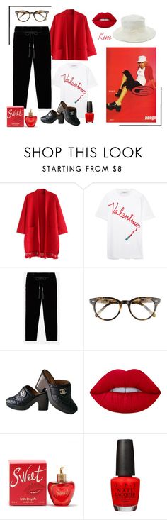 """Valentino"" by kimmie-plus2 ❤ liked on Polyvore featuring Chicwish, Valentino, Corinne McCormack, Chanel, Lime Crime, Lolita Lempicka, David Jones and Hermès"