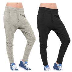 Unisex Low crotch baggy Hip hop sweatpants gray/black from Ninapininaa on Storenvy
