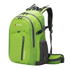 Soarpop Water Resistant Ripstop Fabric Internal Frame BackpackCasual Outdoor Daypack with Rain Cover for MountaineeringHikingCampingTravelling * Learn more by visiting the image link.