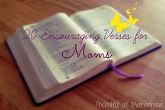 20 encouraging verses for moms by Pocketful of Motherhood