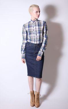 so versatile! // #DolceandGabbana 'Gonna' Denim Pencil Skirt $102