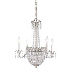 Buy the Quoizel Imperial Silver Direct. Shop for the Quoizel Imperial Silver Jolene 4 Light Wide Candle Style Chandelier with Crystal Accents and save. Chandelier Picture, Outdoor Chandelier, Farmhouse Chandelier, Silver Chandelier, 3 Light Chandelier, Candle Chandelier, Antique Chandelier, Chandelier Shades, Empire Chandelier