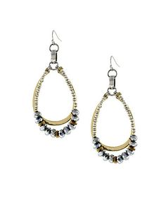 Look what I found on #zulily! Gold & Silver Bead Double-Loop Earrings by Jessica Simpson Collection #zulilyfinds