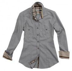 Camicia grigia con doppi taschini.   Seguici anche su                           www.redisrappresentanze.it