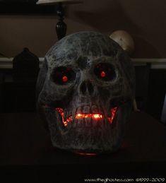 paper mache and glue led skull diy
