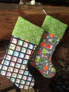 Science Stockings Nerdy Stockings Chemistry Stocking by JustAnE